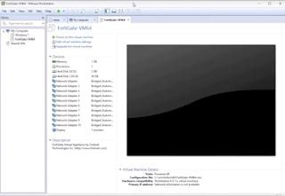 vmware fortigate firewall screen