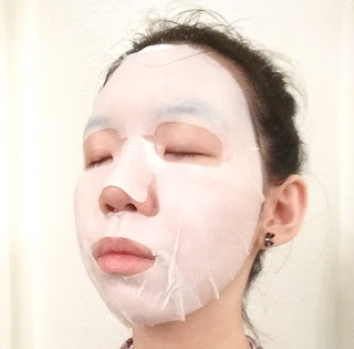 sheet mask selfie