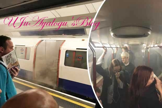 Horror: Several Passengers Rushed to Hospital As Train Catches Fire At Oxford Circus (Photo)