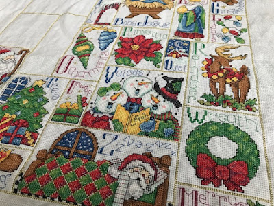ABC counted cross stitch Christmas sampler
