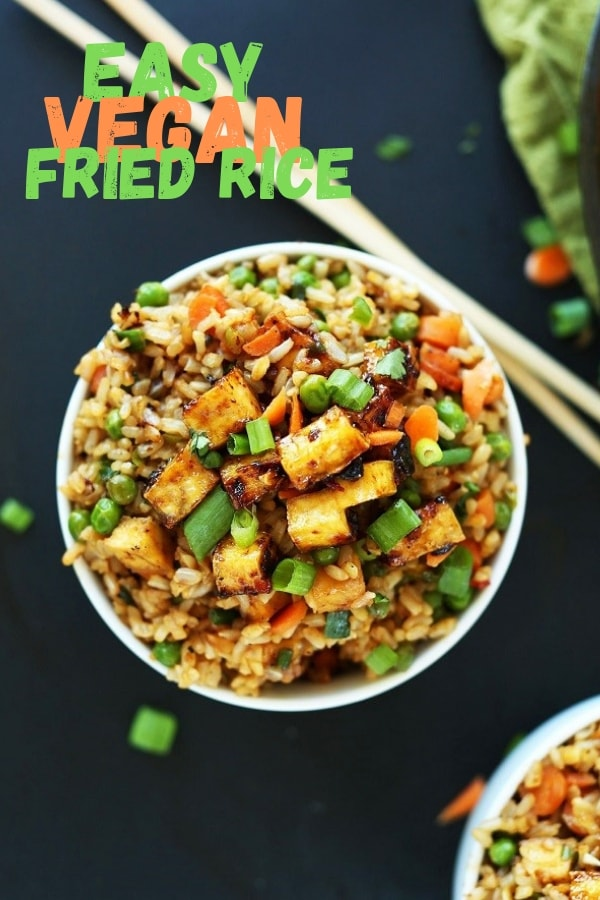 Easy Vegan Fried Rice | Healthy Recipes For Weight Loss, Healthy Recipes Easy, Healthy Recipes Dinner, Healthy Recipes Best, Healthy Recipes On A Budget, Healthy Recipes Clean, Healthy Recipes Breakfast, Healthy Recipes Low Carb, Healthy Recipes Vegetarian, Healthy Recipes Desserts, Healthy Recipes Snacks, Healthy Recipes Lunch, Healthy Recipes For One, Healthy Recipes Chicken, Healthy Recipes Simple, Healthy Recipes Gluten Free, Healthy Recipes Vegan. #vegan #vegetarian #friedrice #healthyfood