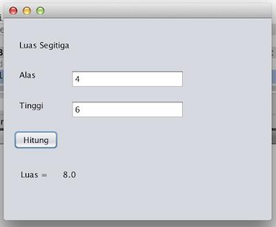 Membuat Aplikasi Luas Segitiga Dengan Java NetBeans