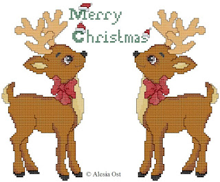 Free cross-stitch patterns, Christmas Reindeers, reindeer, animal, Christmas, clipart, cross-stitch, back stitch, cross-stitch scheme, free pattern, x-stitchmagic.blogspot.it, вышивка крестиком, бесплатная схема, punto croce, schemi punto croce gratis, DMC, blocks, symbols, patrones punto de cruz, #crossstitch_pattern, #crossstitch