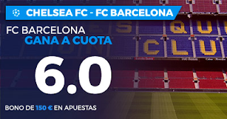 Paston Megacuota Champions League: Chelsea vs Barcelona 20 febrero
