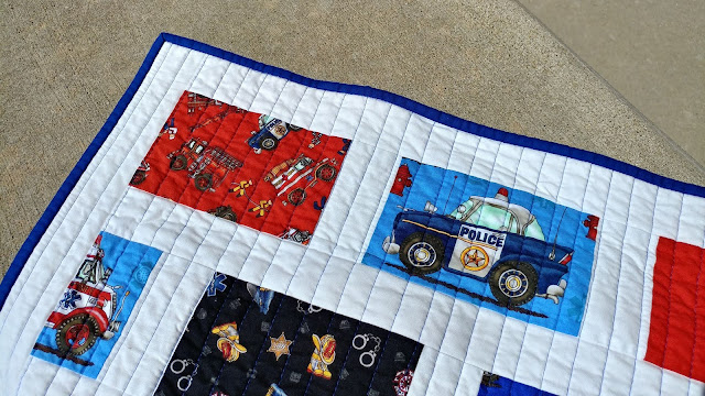 A police themed baby quilt