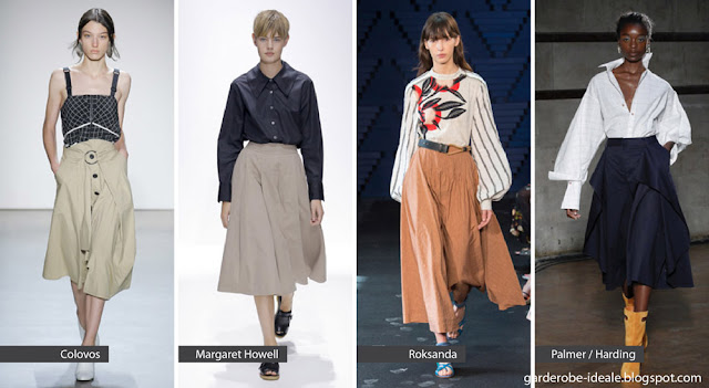 Широкие юбки на подиуме показ весна лето 2018