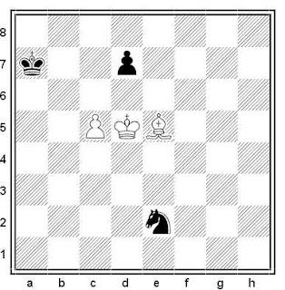 Estudio artístico de ajedrez compuesto por Leonid I. Kubbel (Schachmatny Listok 1928)