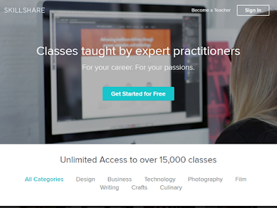 Skillshare membership costs $9.95 per month and it provides student reviews for your reference