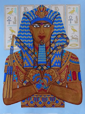 Relax with Art coloring magazine: pharaoh image
