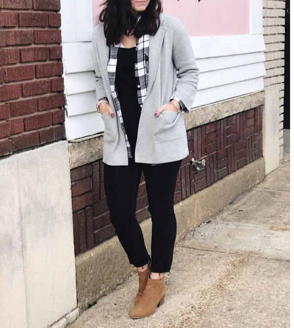 how to layer for fall, how to layer for winter, black overalls, mom style, north carolina blogger, casual style