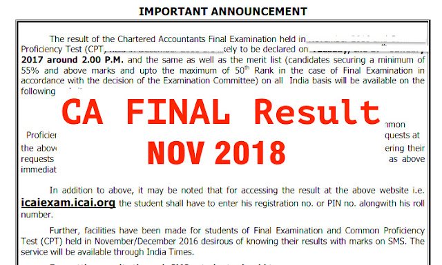 ca final result nov 2018