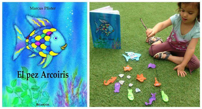 cuentos infantiles imprescindibles con actividades, juegos o manualidades pescar pez arcoiris