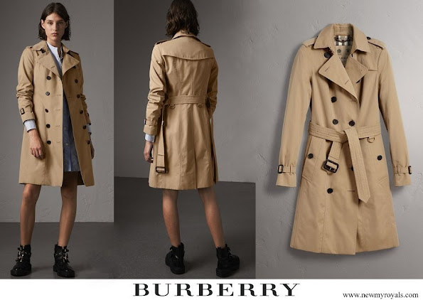 Crown Princess Mary wore Burberry Sandringham Long Trench Coat