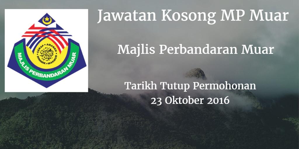 Jawatan Kosong MP Muar 23 Oktober 2016