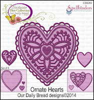 Our Daily Bread designs Custom Ornate Hearts Dies