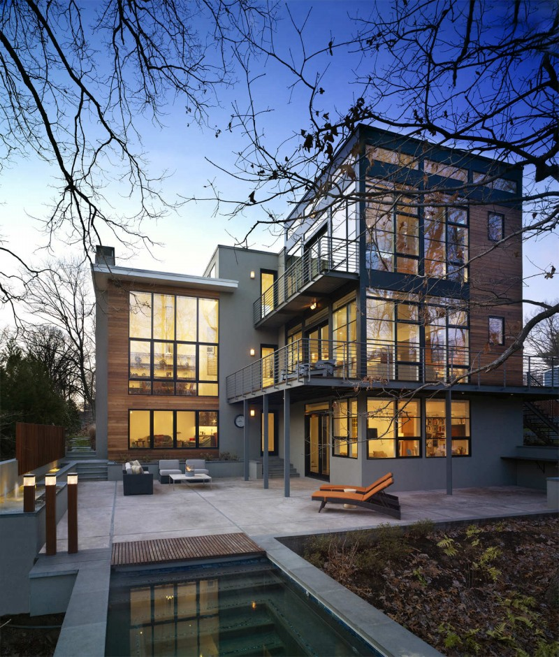 Floor to Ceiling Window for Contemporary House Exterior ...