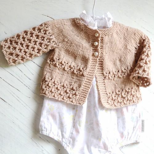 Round Yoke Cardigan - Knitting Pattern