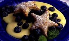 blueberry and custard filled star puffs recipe