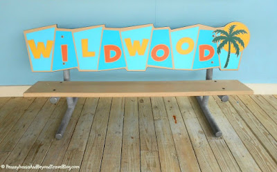 Vintage-Style Signage on the Wildwood Boardwalk in New Jersey