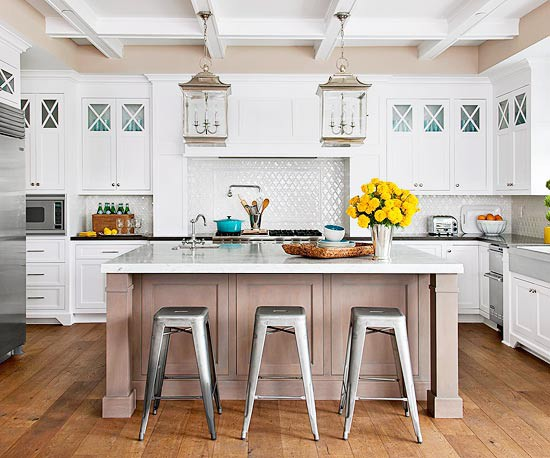 Colors Wood Species And Finishes Add A Dose Of Something Diffe Without Completely Straying From Clic White Like In The Kitchen Below