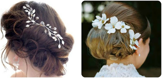 Wedding Hair Updos and Hair Accessories