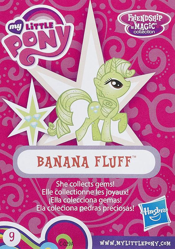 MLP Banana Fluff Blind Bag Cards MLP Merch