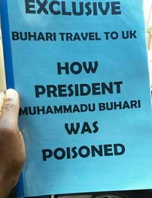 New Book Alleging That President Buhari Was POISONED Floods Abuja Streets For Sale