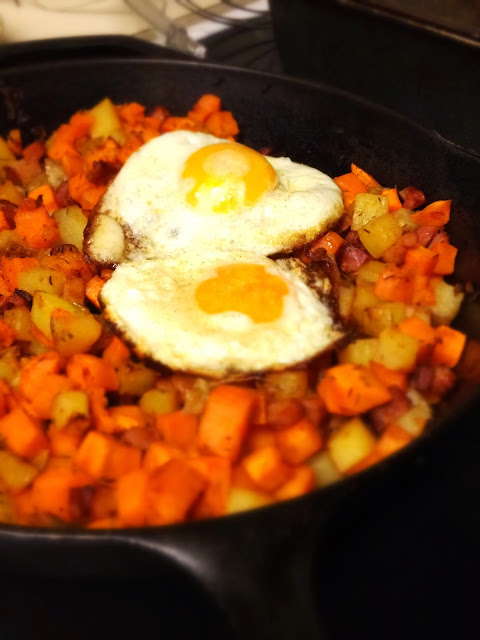 Two-potato hash with ham: Fall comfort food