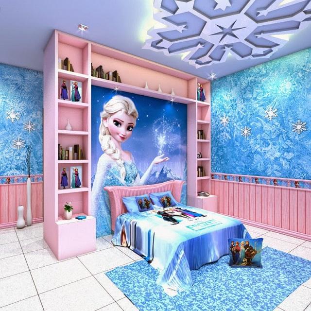 Dormitorios tem ticos de frozen para ni as for Dormitorios para ninas quito