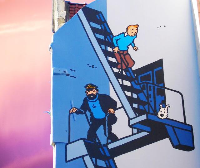 Murale di Tintin in Rue de l'Etuve