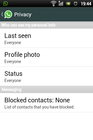 Who can see my personal info WhatsApp