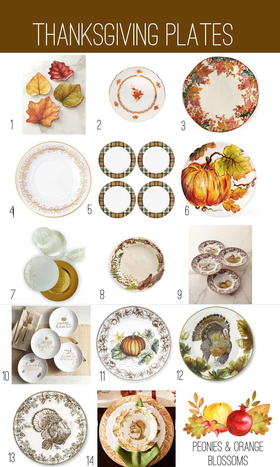 Thanksgiving Dinner Plate and China Round Up!  sc 1 st  Petite Haus & Thanksgiving Dinner Plate Selections! - Petite Haus