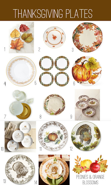 Thanksgiving Dinner Plate and China Round Up!