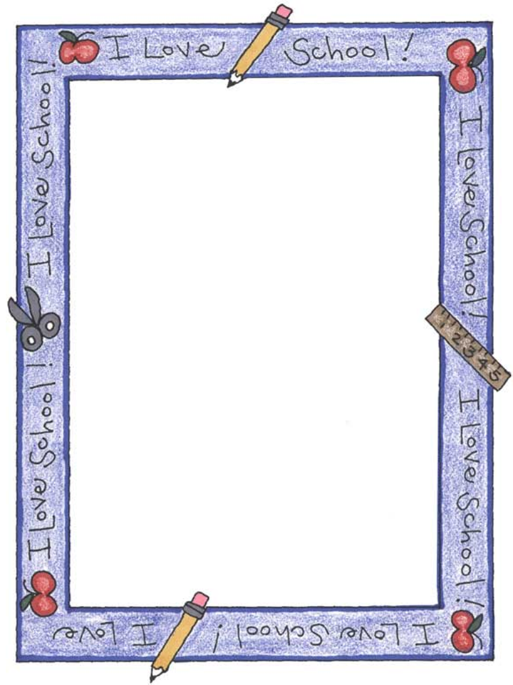 Back to School Bulletin Board Writing Paper Templates - PPT