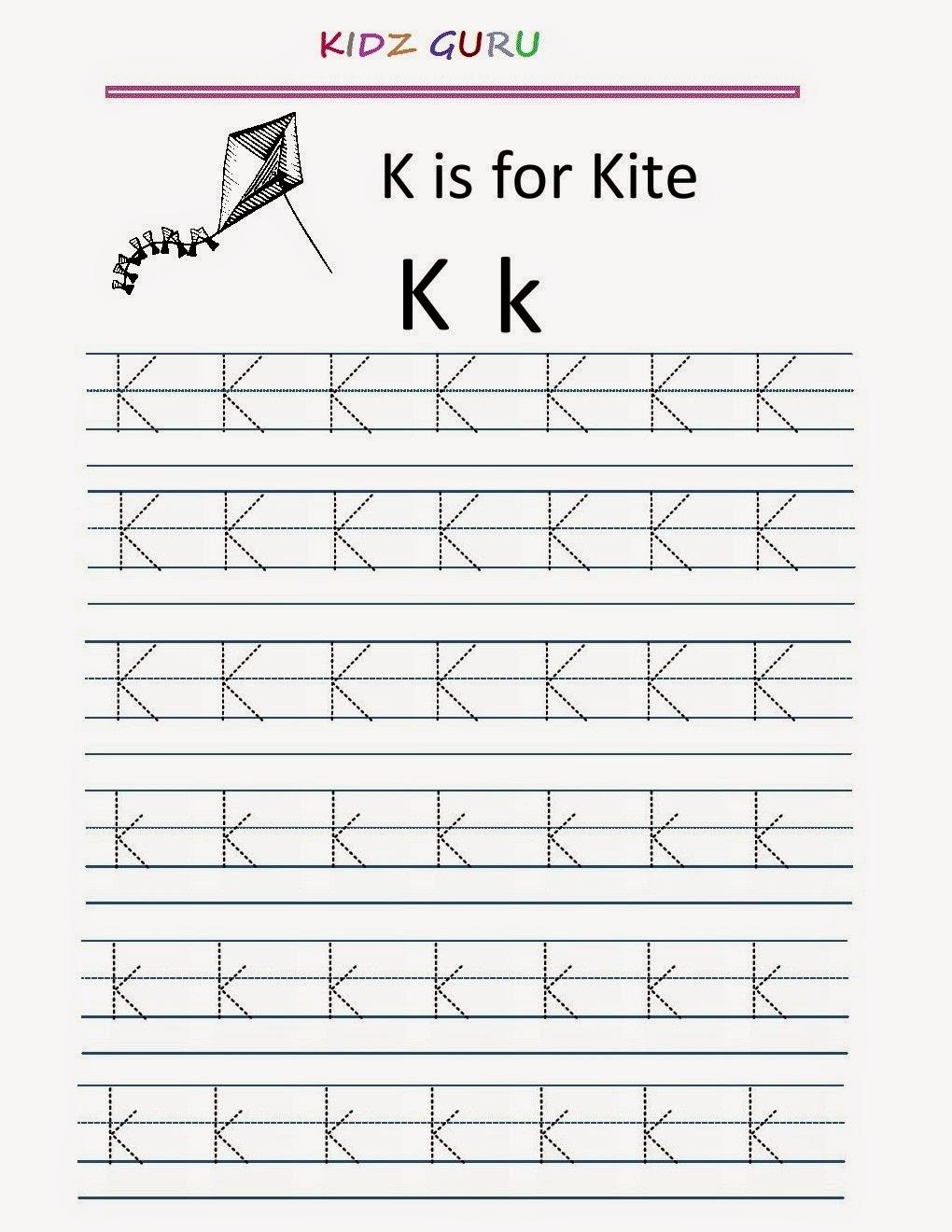 Kindergarten Worksheets: Printable Tracing Worksheet ...