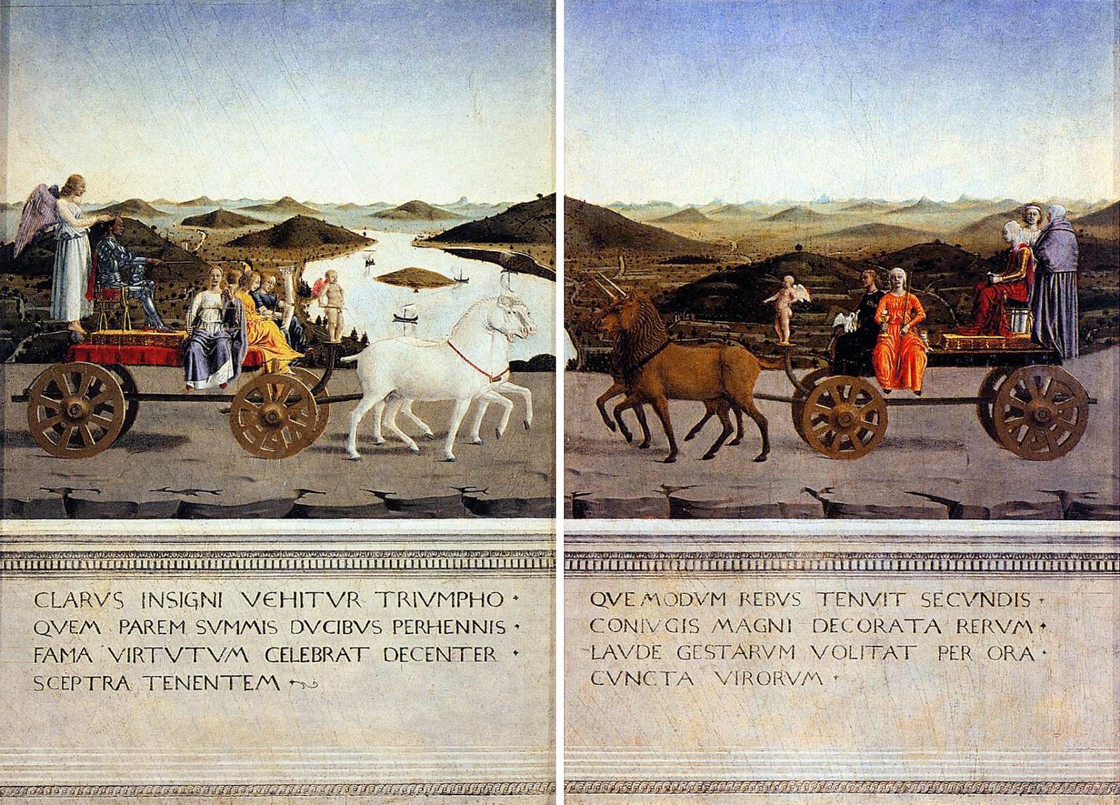 Piero della Francesca - Díptico de Urbino - Federico da Montefeltro y Battista Sforza