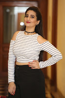 Manjusha in sleevelss crop top and black skirt at Darshakudu pre release ~  Exclusive Celebrities Galleries 073.JPG