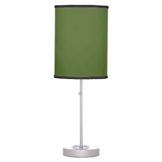 Olive green lamp