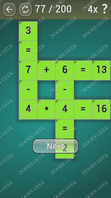 Math Games [Beginner] Level 77 answers, cheats, solution, walkthrough for android