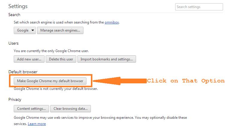 make chrome default browser