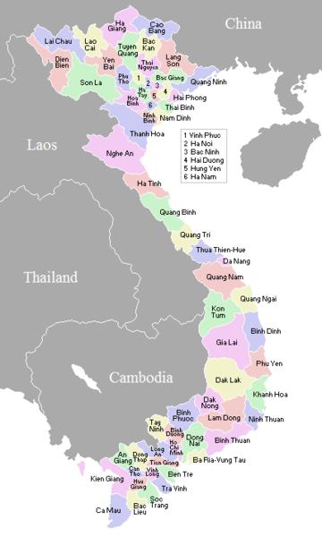 Provinsi di negara Vietnam
