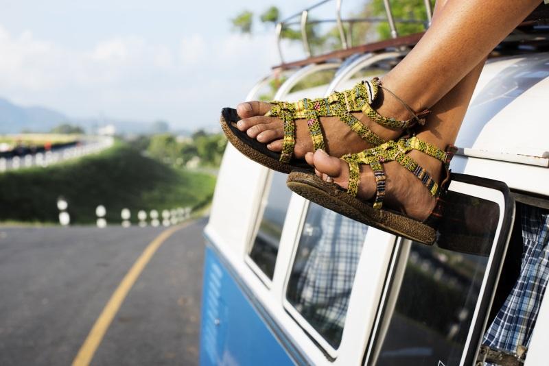 sélection sandales soldées chez Spartoo