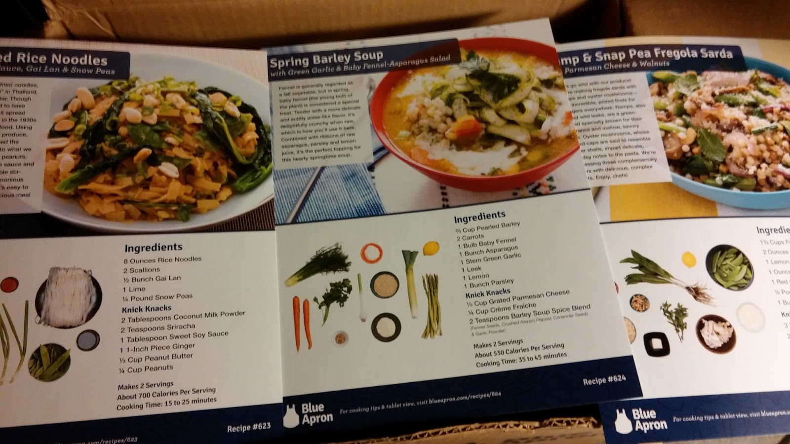 Blue apron olive oil - They Give You Everything You Need To Make The Meal Except Olive Oil And 8x9 Recipe Cards With Step By Step Instructions On The Back Of The Cards