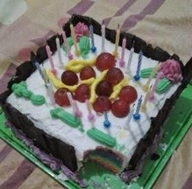 Resep Cara Membuat Kue Ulang Tahun dari Rainbow Resep Cara Membuat Kue Ulang Tahun dari Rainbow