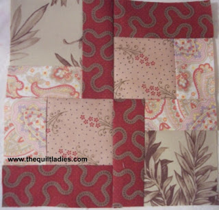 how to make a quilt pattern block by The Quilt Ladies.