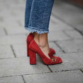Cool Chic Style Fashion : something red and classic who what wear - australian fashion week street style - Photo: Liz Sunshine