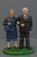 cake topper anniversario nonni statuine personalizzate presepe idea regalo genitori orme magiche