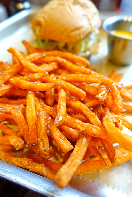 Sweet Potato Fries drizzled with caramel - ridiculous! The Front Porch at Ross Bridge in Birmingham, AL