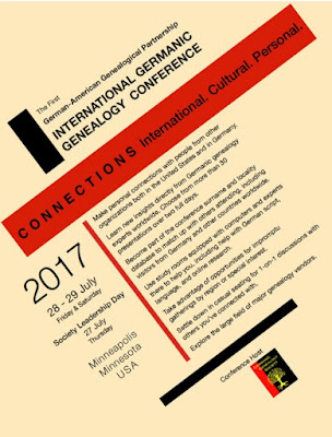 2017 International Germanic Genealogy Conference—July 28-29, 2017 Hosted in Minneapolis, Minnesota