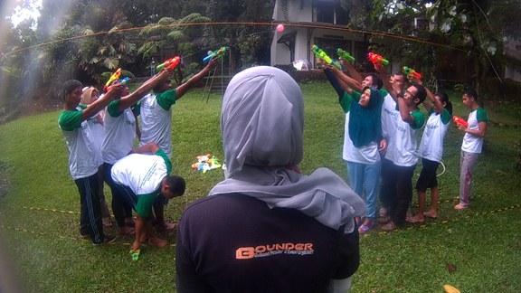 Keseruan outbound di Bogor
